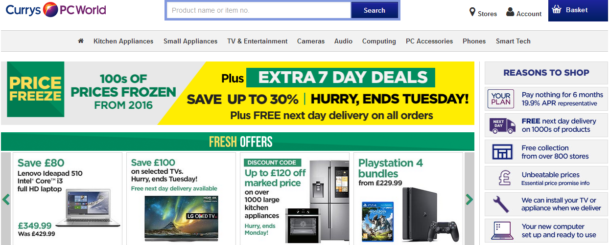 currys pc world screenshot