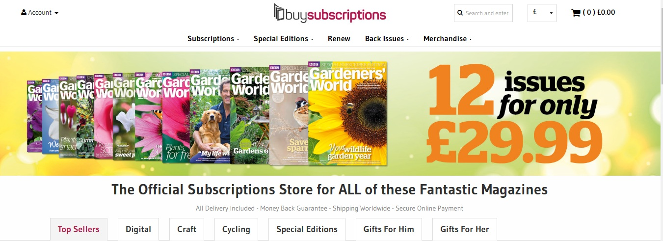 Buy Subscriptions Screen Shot