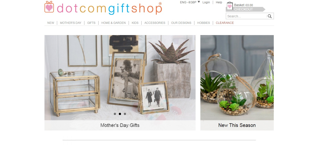 Dot Com Gift Shop Screen Shot