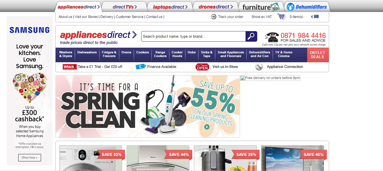 appliancesdirect screenshot